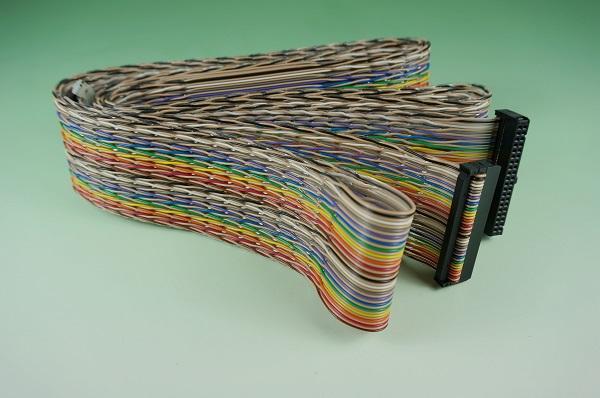 GR10618-011  彩虹併排線 對絞 40C & IDC2.54三件式 1