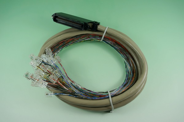 GR10611-002  TELCO-50P 公刺破膠芯+牙刷型 塑殼 & 6P2C 1